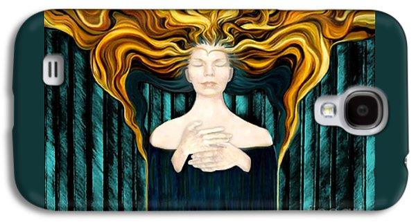 Aqua Angel Galaxy S4 Case by Dia T