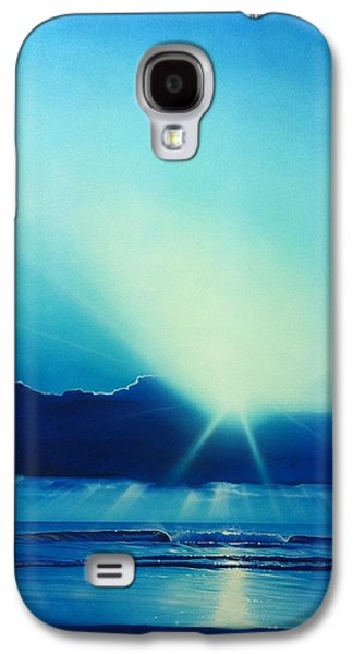 Sunset Prints Galaxy S4 Cases - Aqua Earth Galaxy S4 Case by Christian Chapman Art