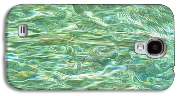 Colorful Abstract Galaxy S4 Cases - Aqua Green Water Art 2 Galaxy S4 Case by Kaye Menner