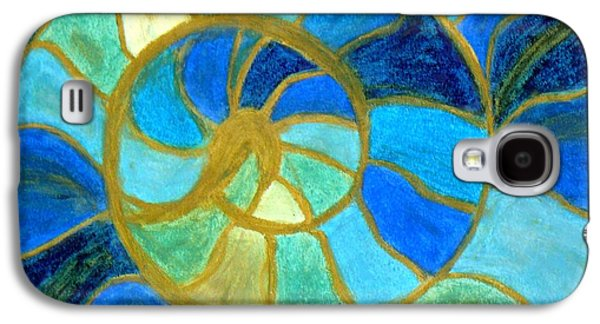 Abstract Seascape Pastels Galaxy S4 Cases - Aqua in Motion #6 Galaxy S4 Case by Carla Sa Fernandes