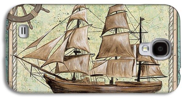 Tall Ship Galaxy S4 Cases - Aqua Maritime 1 Galaxy S4 Case by Debbie DeWitt