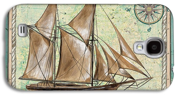 Tall Ship Galaxy S4 Cases - Aqua Maritime 2 Galaxy S4 Case by Debbie DeWitt