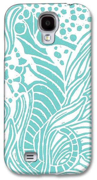 Aqua Seahorse Galaxy S4 Case by Stephanie Troxell