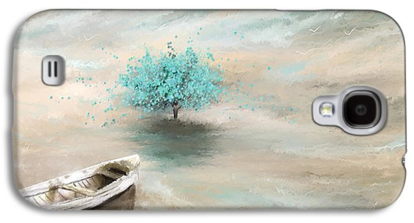 Blue Abstracts Galaxy S4 Cases - Aqua Tree Of Life Galaxy S4 Case by Lourry Legarde
