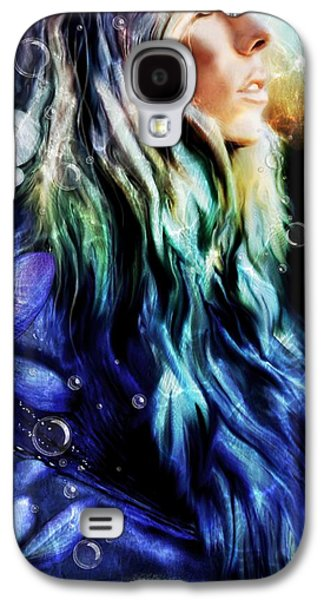 Science Fiction Mixed Media Galaxy S4 Cases - Aquamarine Galaxy S4 Case by Sheena Pike