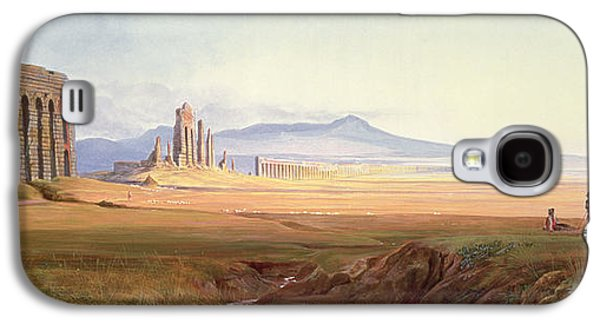 Ruin Galaxy S4 Cases - Aqueduct Of Nero, Rome Galaxy S4 Case by Edward Lear