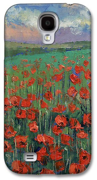 Field. Cloud Paintings Galaxy S4 Cases - Arabesque Galaxy S4 Case by Michael Creese