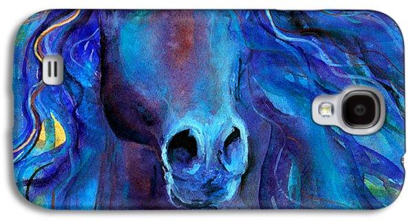 Westerns Drawings Galaxy S4 Cases - Arabian horse #3  Galaxy S4 Case by Svetlana Novikova