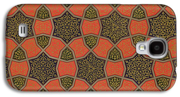 Cellphone Galaxy S4 Cases - Arabic decorative design Galaxy S4 Case by Emile Prisse dAvennes