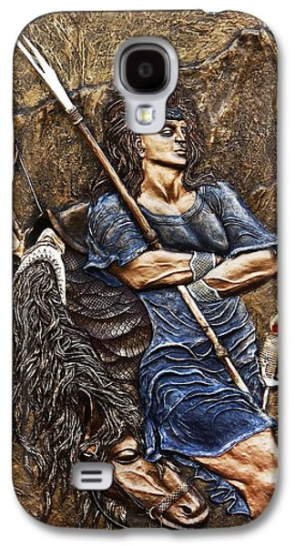 Relief Sculpture Reliefs Galaxy S4 Cases - Arash the Archer Galaxy S4 Case by Ashkan Fallahi