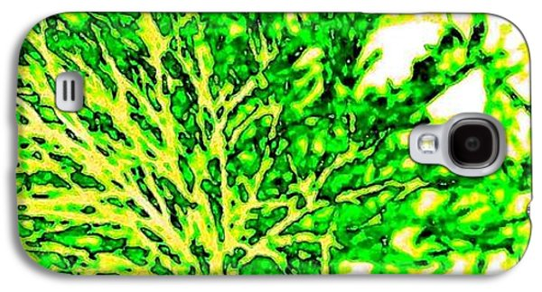 Abstract Digital Galaxy S4 Cases - Arbres Verts Galaxy S4 Case by Will Borden