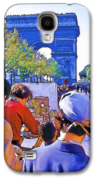 Painter Photo Photographs Galaxy S4 Cases - Arc de Triomphe Painter Galaxy S4 Case by Chuck Staley