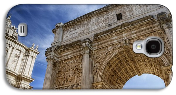 Ancient Galaxy S4 Cases - Arch of Septimius Severus Galaxy S4 Case by Joan Carroll