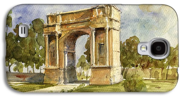 Roman Galaxy S4 Cases - Arch triumphal of Antonius Pius at Tunisia Galaxy S4 Case by Juan  Bosco