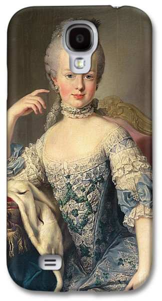 Historical Paintings Galaxy S4 Cases - Archduchess Marie Antoinette Habsburg-Lotharingen Galaxy S4 Case by Martin II Mytens