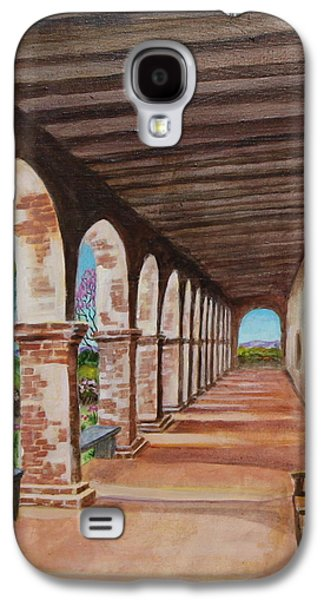 Empty Chairs Paintings Galaxy S4 Cases - Arched Walkway at Noon  Galaxy S4 Case by Jan Mecklenburg