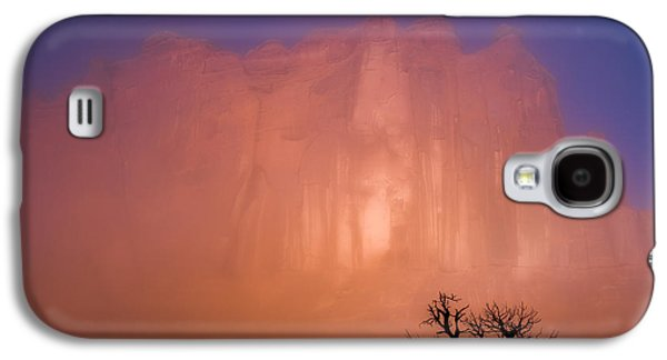 Misty Prints Galaxy S4 Cases - Arches Morning Fog Galaxy S4 Case by Darren  White