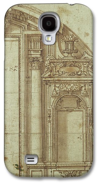 Saints Drawings Galaxy S4 Cases - Architectural Study Galaxy S4 Case by Alonso Cano