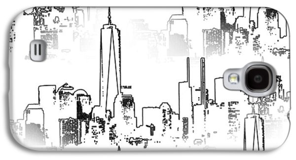 Twin Towers Nyc Galaxy S4 Cases - Architecture Of New York City Galaxy S4 Case by Dan Sproul