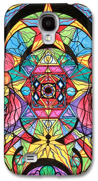 Image Paintings Galaxy S4 Cases - Arcturian Ascension Grid Galaxy S4 Case by Teal Eye  Print Store