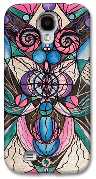 Image Paintings Galaxy S4 Cases - Arcturian Healing Lattice  Galaxy S4 Case by Teal Eye  Print Store