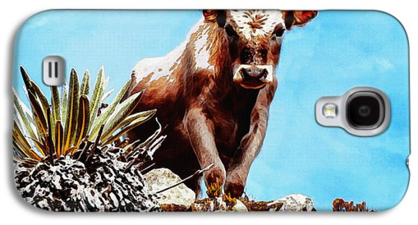 Rural Scenes Digital Galaxy S4 Cases - Are You Talking To Me? Galaxy S4 Case by Ayse Deniz