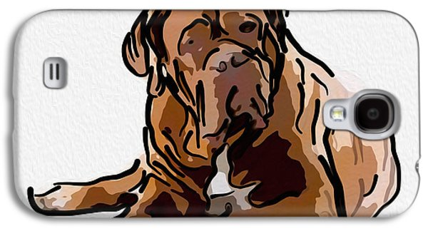 Water Dogs Mixed Media Galaxy S4 Cases - Are You Talking to Me Galaxy S4 Case by Omaste Witkowski