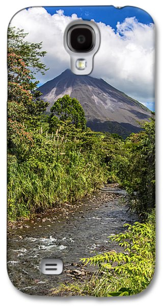 Sun Photographs Galaxy S4 Cases - Arenal from the Rio Agua Caliente Galaxy S4 Case by Andres Leon