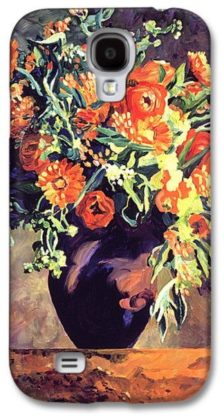 Cut Flowers Galaxy S4 Cases - Argenteuil Arrangement Galaxy S4 Case by David Lloyd Glover
