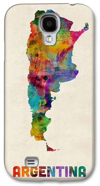 Map Galaxy S4 Cases - Argentina Watercolor Map Galaxy S4 Case by Michael Tompsett