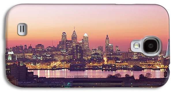 Downtown Franklin Galaxy S4 Cases - Arial View Of The City At Twilight Galaxy S4 Case by Panoramic Images