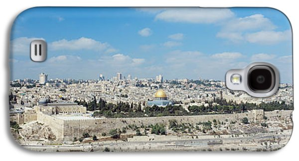 Religious Galaxy S4 Cases - Ariel View Of The Western Wall Galaxy S4 Case by Panoramic Images