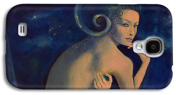 Constellations Paintings Galaxy S4 Cases - Aries from Zodiac series Galaxy S4 Case by Dorina  Costras