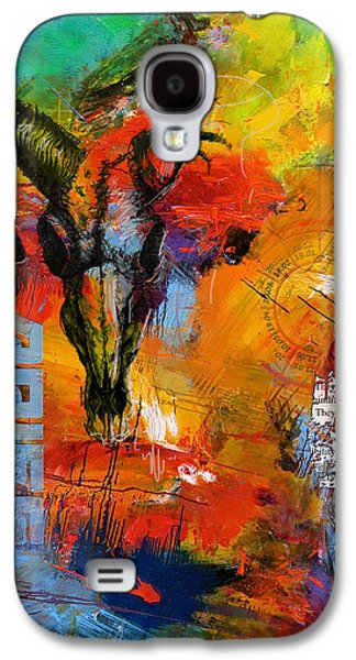 Astronomy Paintings Galaxy S4 Cases - Aries Horoscope Galaxy S4 Case by Corporate Art Task Force