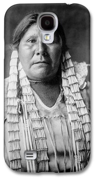 Braids Galaxy S4 Cases - Arikara woman circa 1908 Galaxy S4 Case by Aged Pixel
