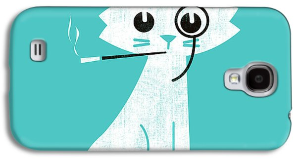 Cats Digital Art Galaxy S4 Cases - Aristo cat Galaxy S4 Case by Budi Satria Kwan