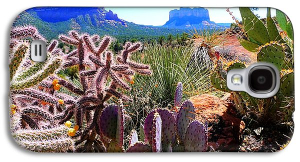 Landscapes Photographs Galaxy S4 Cases - Arizona Bell Rock Valley n4 Galaxy S4 Case by John Straton