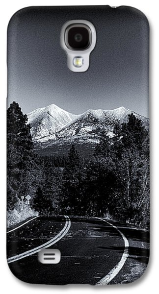 Hopi Galaxy S4 Cases - Arizona Country Road in Black and White Galaxy S4 Case by Joshua House