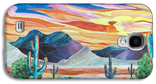 Landscapes Glass Art Galaxy S4 Cases - Arizona landscape Galaxy S4 Case by Suzanne Tremblay