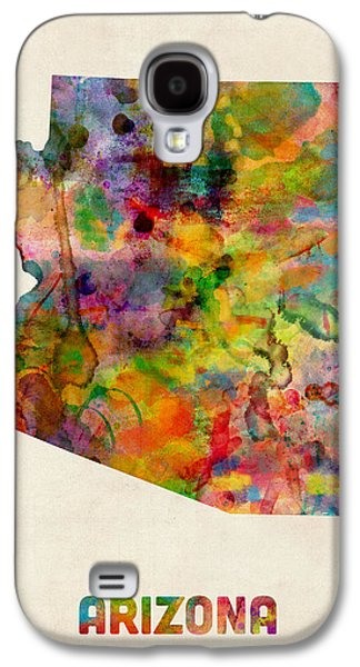 Arizona Watercolor Map Galaxy S4 Case by Michael Tompsett