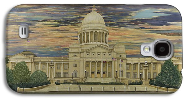 Arkansas Paintings Galaxy S4 Cases - Arkansas State Capitol Galaxy S4 Case by Mary Ann King