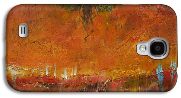 Surrealistic Paintings Galaxy S4 Cases - Armageddon Galaxy S4 Case by Michael Creese
