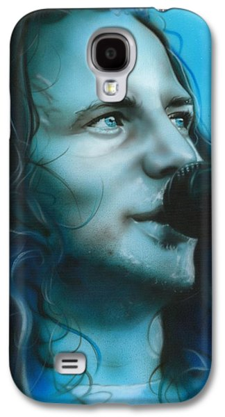 Eddie Vedder - ' Arms Raised In A V ' Galaxy S4 Case by Christian Chapman Art