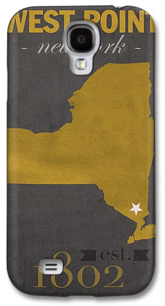 Army Mixed Media Galaxy S4 Cases - Army Black Knights West Point New York USMA College Town State Map Poster Series No 015 Galaxy S4 Case by Design Turnpike