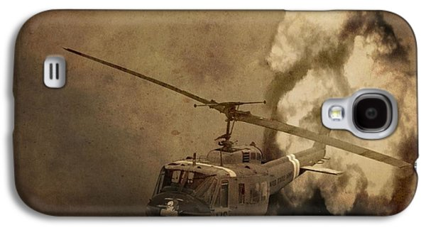Helicopter Photographs Galaxy S4 Cases - Army Helicopter Explosion Galaxy S4 Case by Dan Sproul