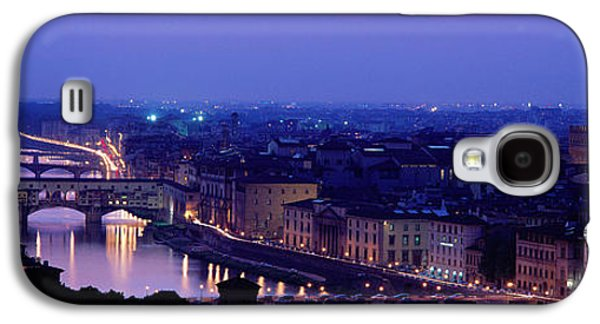Famous Bridge Galaxy S4 Cases - Arno River Florence Italy Galaxy S4 Case by Panoramic Images