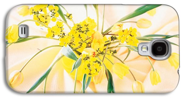 Studio Photography Galaxy S4 Cases - Arranged Yellow Flowers Galaxy S4 Case by Panoramic Images