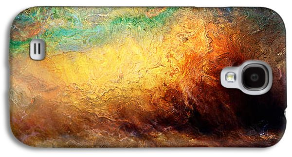 Colorful Abstract Galaxy S4 Cases - Arrival - Abstract Art Galaxy S4 Case by Jaison Cianelli