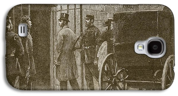 1880s Galaxy S4 Cases - Arrival Of Mr Parnell At Kilmainham Galaxy S4 Case by William Barnes Wollen