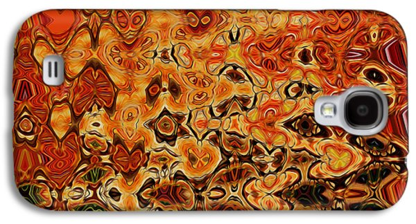 Transparency Geometric Galaxy S4 Cases - Art abstract vibrant colorful background 4 Galaxy S4 Case by Lanjee Chee